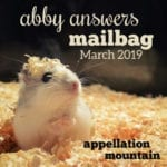 Abby Answers: March 2019 Mailbag