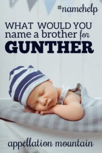 Name Help: A Brother for Gunther