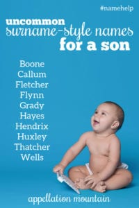 Name Help: Surname-Style Boy Names
