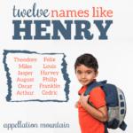 Names Like Henry: Twelve Great Alternatives