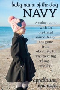 Navy: Baby Name of the Day