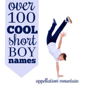 Cool Short Boy Names