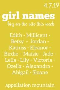 Girl Names 4.7.19