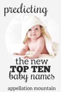 Predictions 2019: Top Ten Baby Names