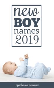 New Boy Names 2019
