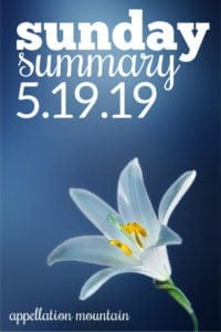 Sunday Summary: 5.19.19