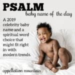 Psalm: Baby Name of the Day