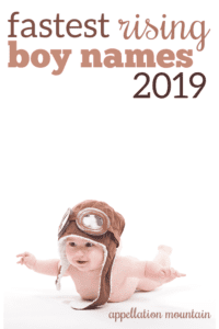 Fastest Rising Boy Names 2019