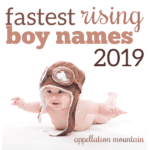 Fastest Rising Boy Names 2019 Update