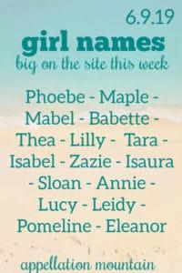 Girl Names 6.9.19