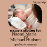 Name Help: A Sibling for Naomi and Michael