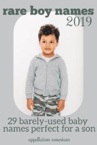 rare boy names 2019