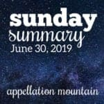 Sunday Summary 6.30.19
