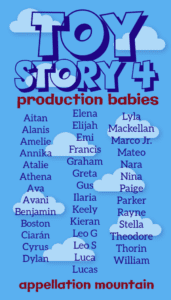 Toy Story 4 production babies