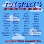 Toy Story 4 Production Babies: June 2019