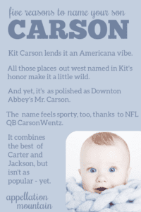 Carson: Baby Name of the Day