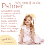 Palmer: Baby Name of the Day