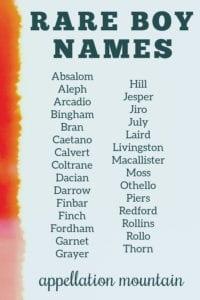 rare names for boys