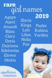 rare girl names 2019