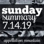 Sunday Summary: 7.14.19
