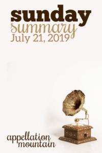 Sunday Summary: 7.21.19