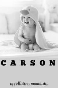 baby name Carson