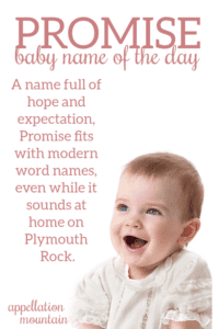 Promise: Baby Name of the Day