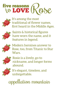 Rose: Baby Name of the Day