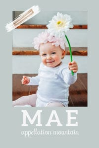 baby name Mae