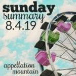 Sunday Summary: 8.4.19