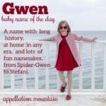 Gwen: Baby Name of the Day
