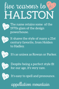 Halston: Baby Name of the Day