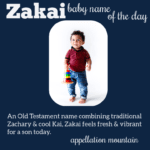 Zakai: Baby Name of the Day