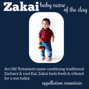 Zakai: Baby Name of the Day
