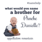 Name Help: A Brother for Phoebe Danielle