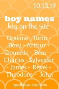 Boy Names: 10.13.19