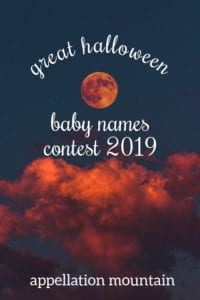 Great Halloween Baby Names Contest 2019: Girls SemiFinals