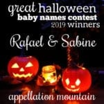Great Halloween Baby Names Contest 2019: The Winners