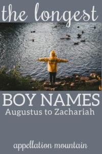 long names for boys