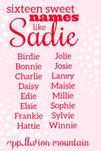 Names like Sadie