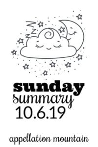 Sunday Summary: 10.6.19