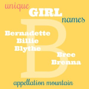 Unique Girl Names