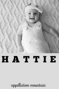 baby name Hattie