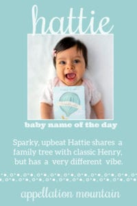 Hattie: Baby Name of the Day