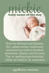 Mickie: Baby Name of the Day