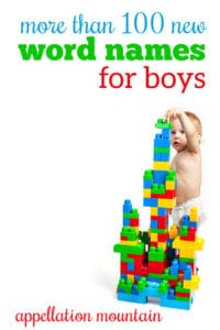 100 new word names for boys