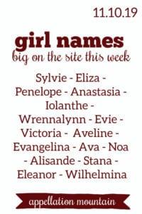 Girl Names: 11.10.19