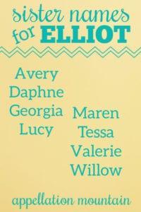 Name Help: Sister for Elliot Asher