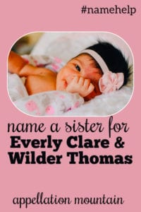 Name Help: A Sister for Everly and Wilder