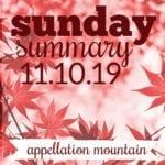 Sunday Summary: 11.10.19